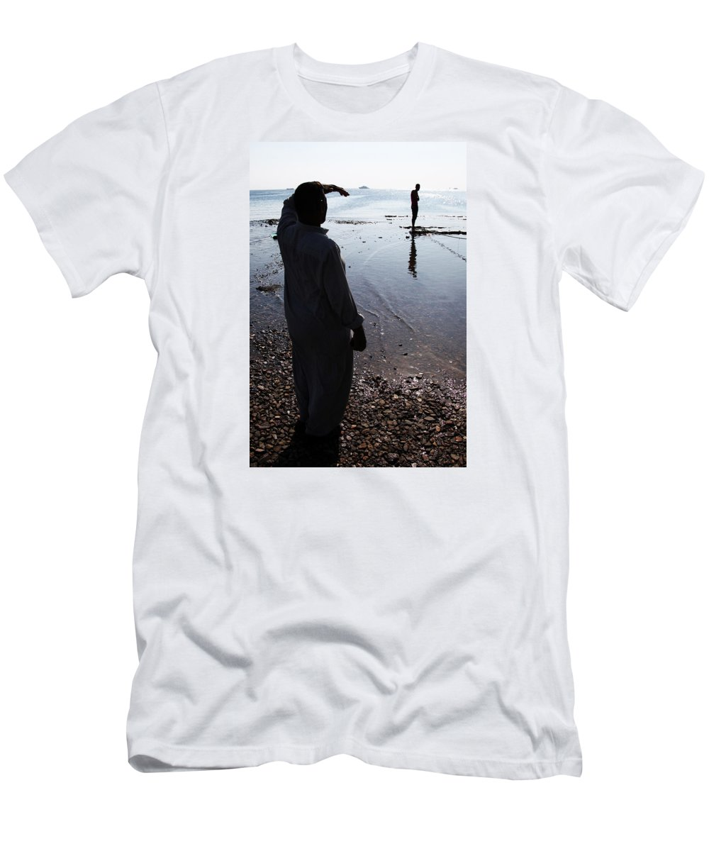 Hurghada Men's T-Shirt (Athletic Fit) featuring the photograph Separate Yet Lives Together by Jez C Self