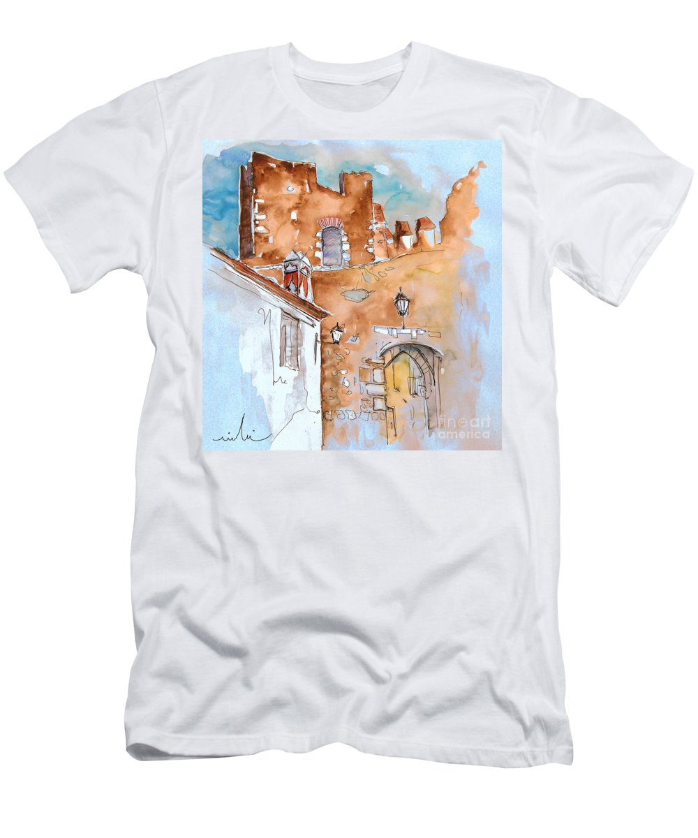 Water Colour Painting Serpa Portugal Men's T-Shirt (Athletic Fit) featuring the painting Serpa Portugal 29 by Miki De Goodaboom