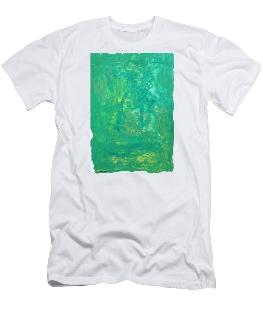 Abstract Art Men's T-Shirt (Athletic Fit) featuring the painting Sgh3 Planet by John Dossman