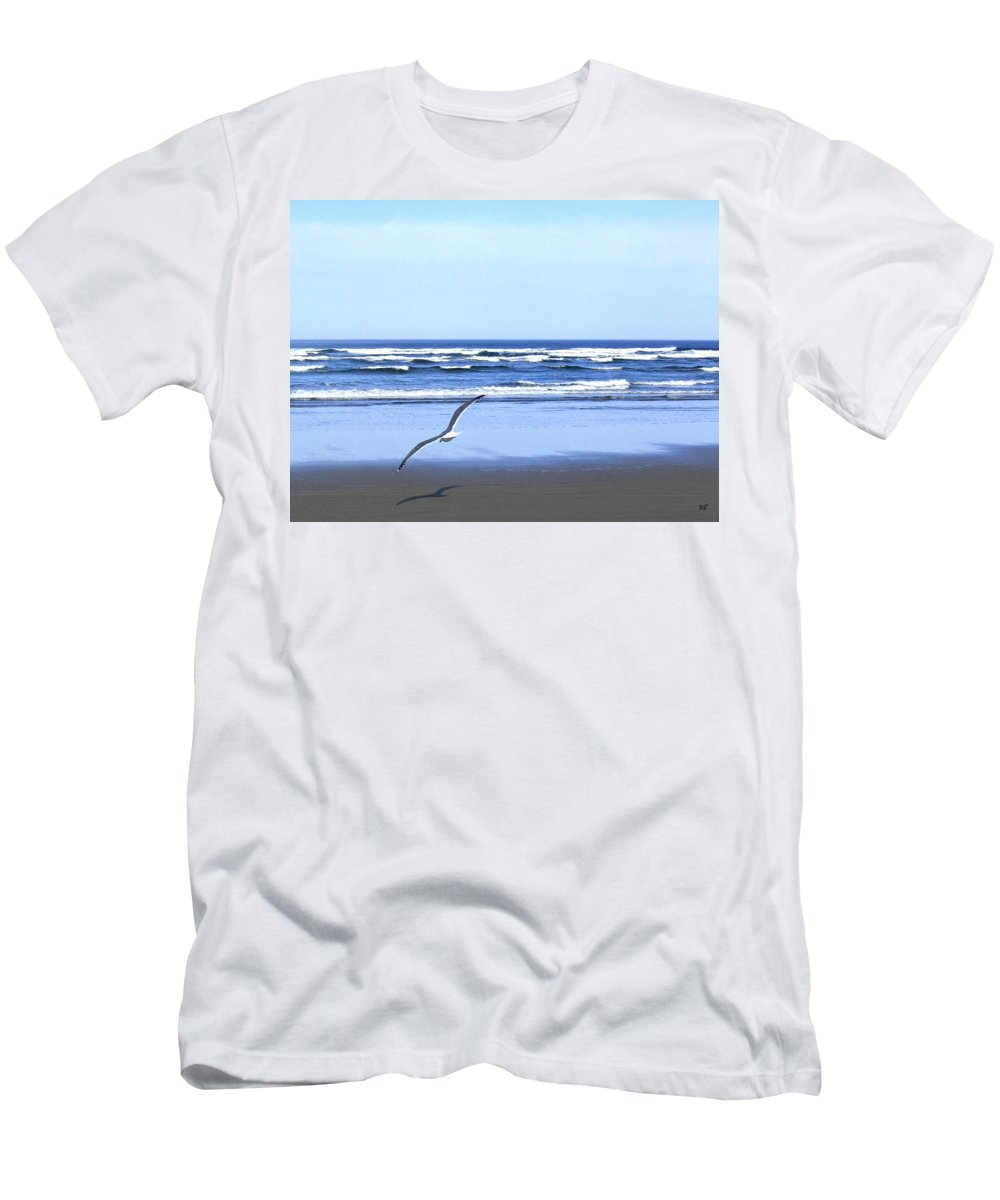 Seagull T-Shirt featuring the photograph Shadow On The Sand by Will Borden