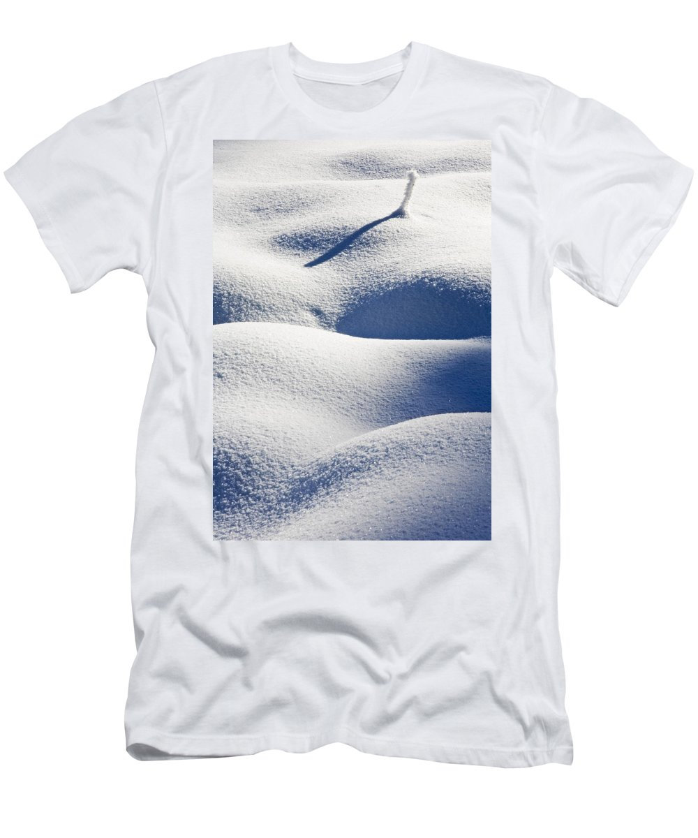 Snow Men's T-Shirt (Athletic Fit) featuring the photograph Shapes Of Winter by Mike Dawson