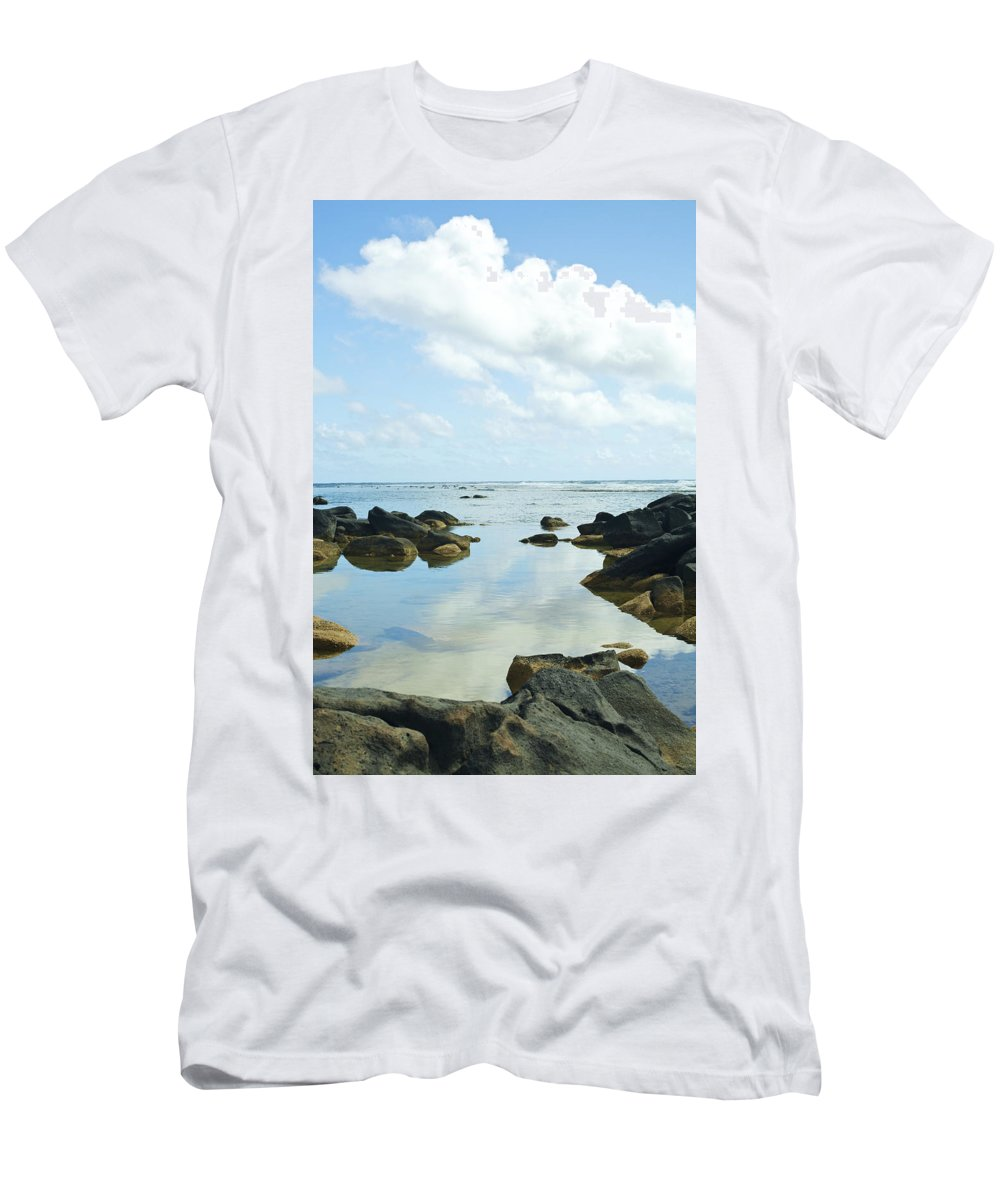 Anahola Men's T-Shirt (Athletic Fit) featuring the photograph Sharks Heiau On Kauai by Kicka Witte - Printscapes