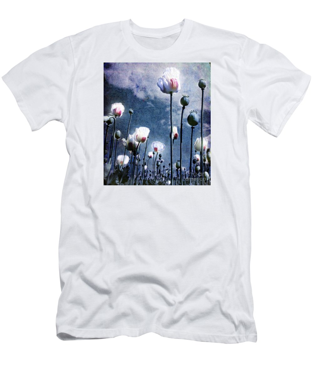 Flowers Men's T-Shirt (Athletic Fit) featuring the photograph Shine Through by Jacky Gerritsen