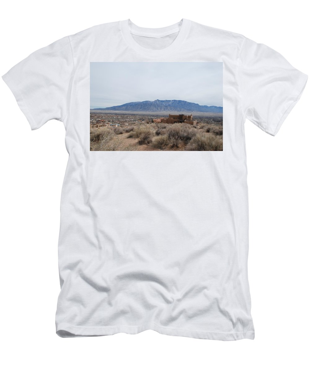 Mountians Men's T-Shirt (Athletic Fit) featuring the photograph Shoulda Coulda Woulda by Rob Hans