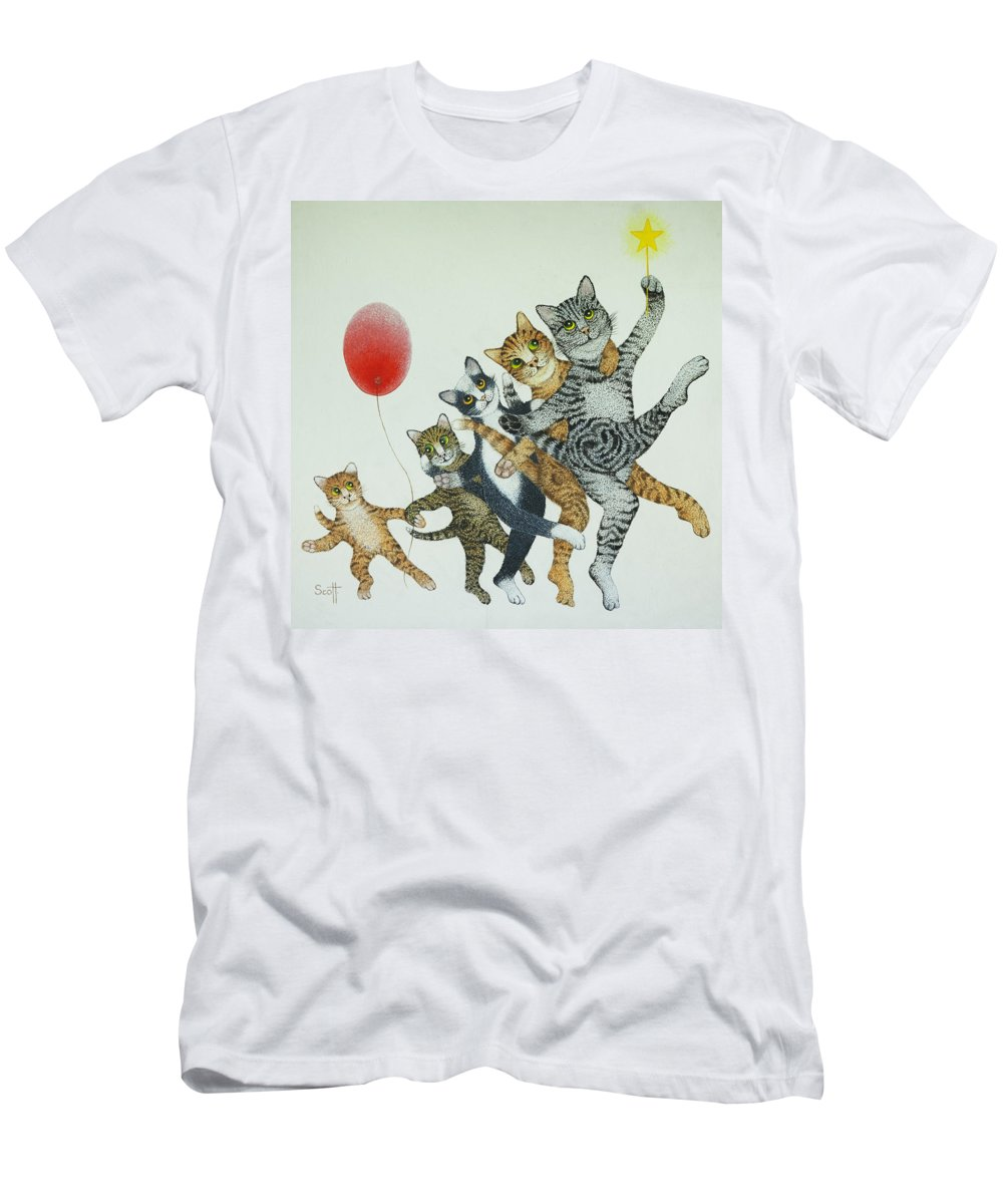 Signed Men's T-Shirt (Athletic Fit) featuring the painting Show Stoppers by Pat Scott