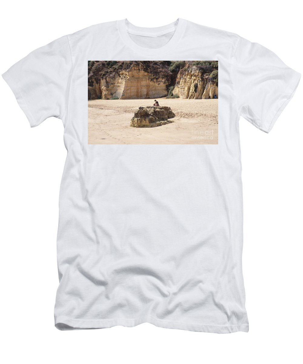 Algarve Men's T-Shirt (Athletic Fit) featuring the photograph Silence Is Golden by Casper Cammeraat