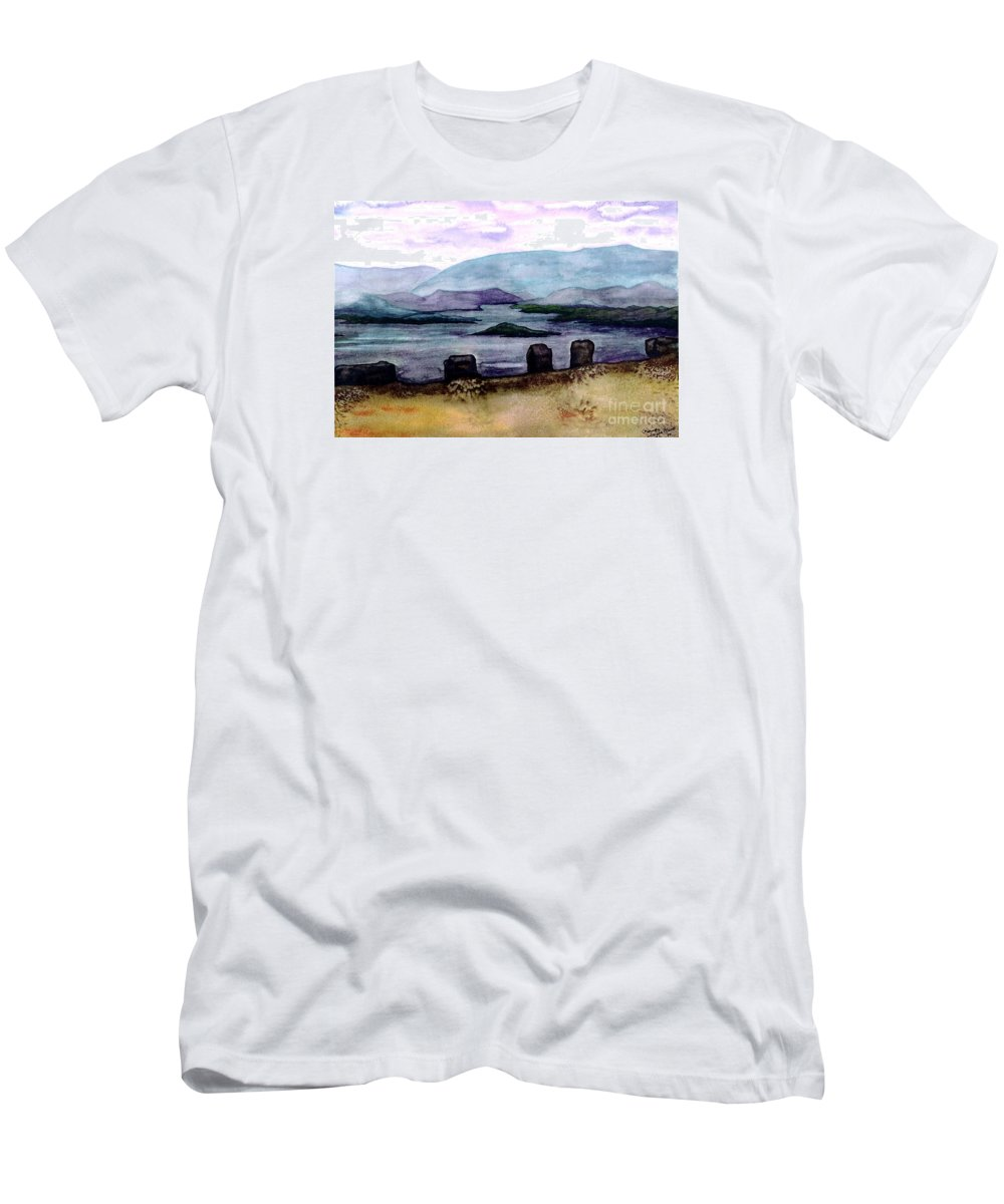 Original Painting Men's T-Shirt (Athletic Fit) featuring the painting Silent Sentinels by Patricia Griffin Brett