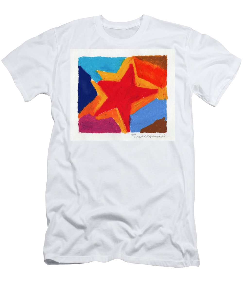 Star Men's T-Shirt (Athletic Fit) featuring the painting Simple Star by Stephen Anderson
