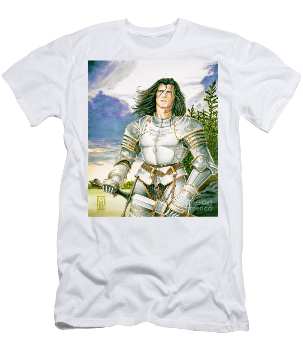 Swords T-Shirt featuring the painting Sir Lancelot by Melissa A Benson