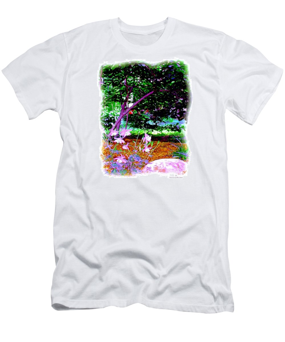 Fine Art Men's T-Shirt (Athletic Fit) featuring the painting Sitting In The Shade by Patricia Griffin Brett