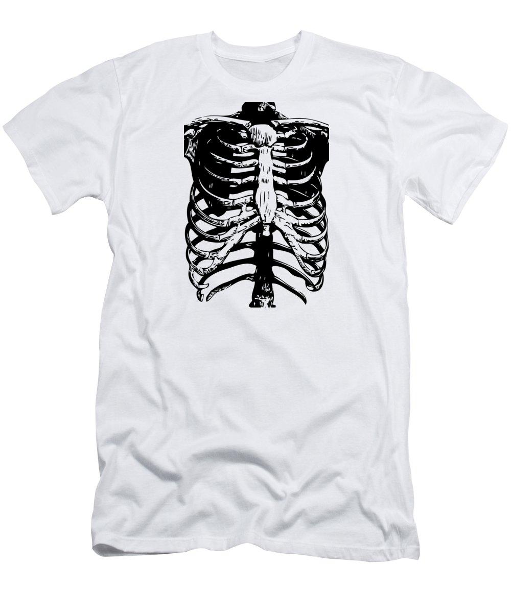 d4d7d0e9 Skeleton Ribs Men's T-Shirt (Athletic Fit) featuring the digital art Skeleton  Ribs