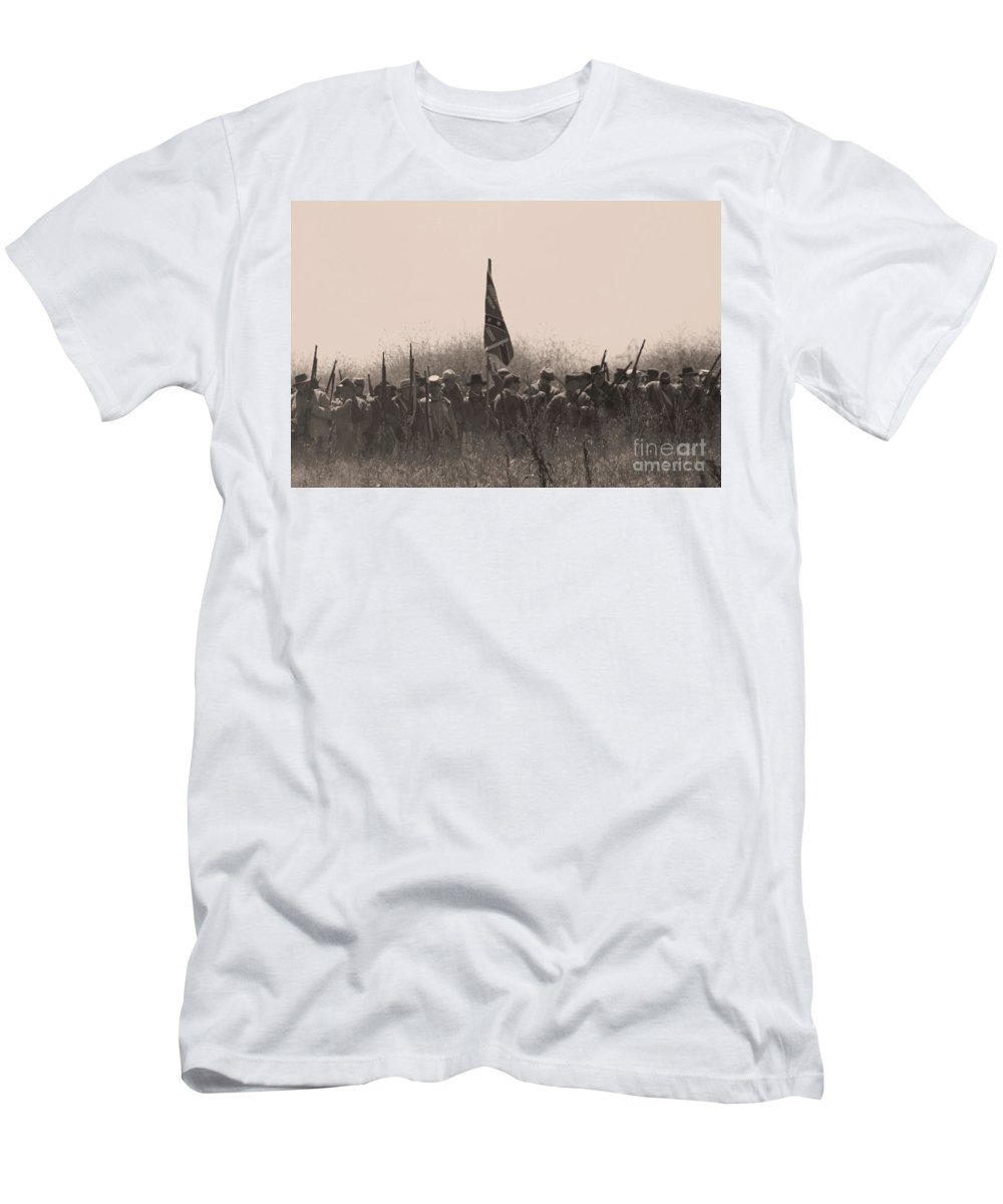 Civil War Men's T-Shirt (Athletic Fit) featuring the photograph Skirmish Line by Tommy Anderson