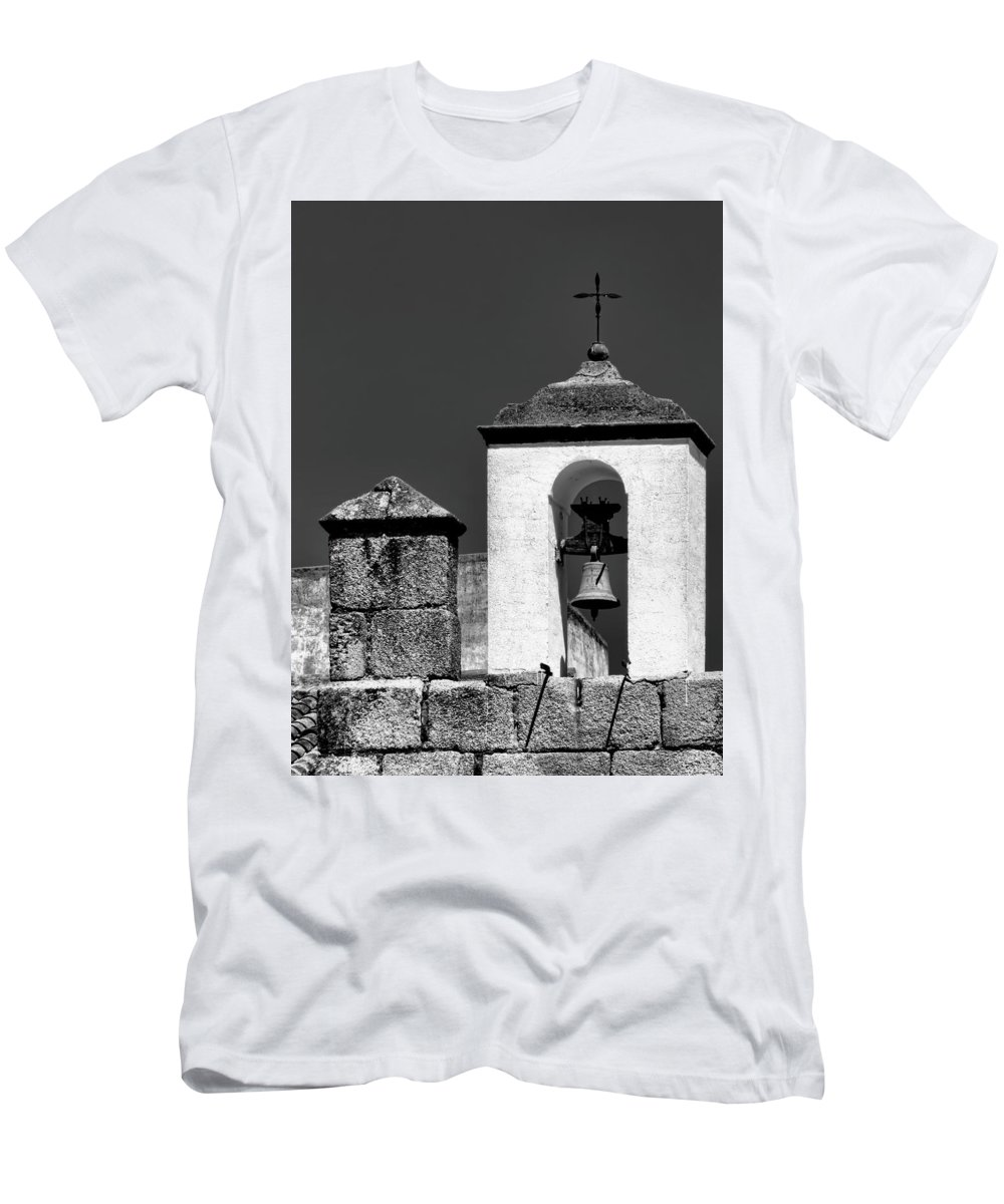 Spain Men's T-Shirt (Athletic Fit) featuring the photograph Small Bell Tower by Claude LeTien