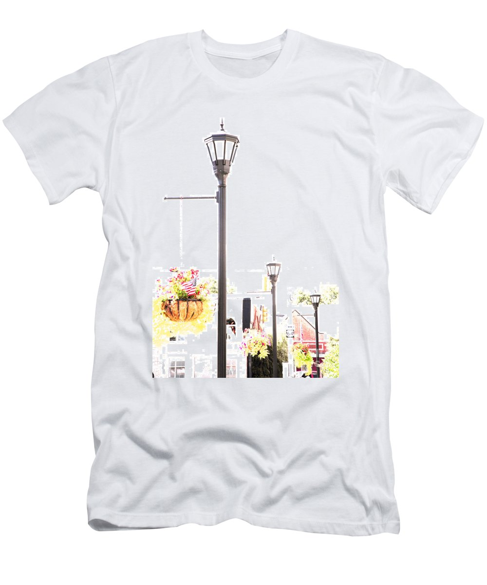 Small Town Men's T-Shirt (Athletic Fit) featuring the photograph Small Town by Amanda Barcon