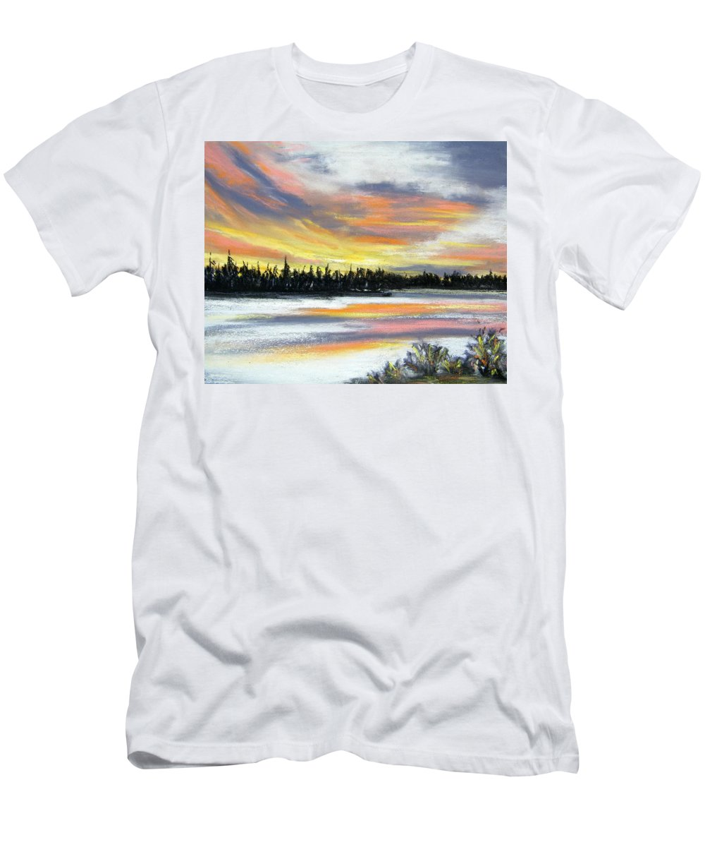 Sunset Men's T-Shirt (Athletic Fit) featuring the pastel Snake River Sunset by Gale Cochran-Smith