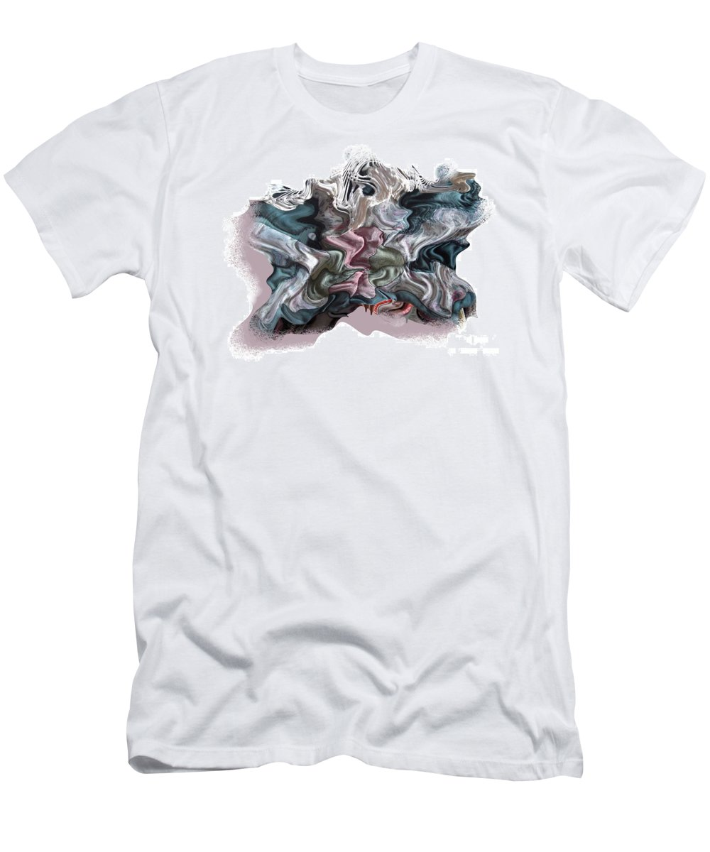 Abstract T-Shirt featuring the digital art Snow Capped Cloth by Ron Bissett