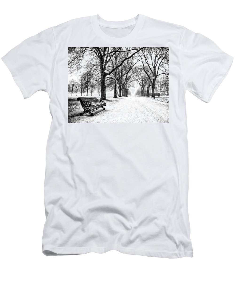 Park Men's T-Shirt (Athletic Fit) featuring the relief Snow Day by Dominic Piperata