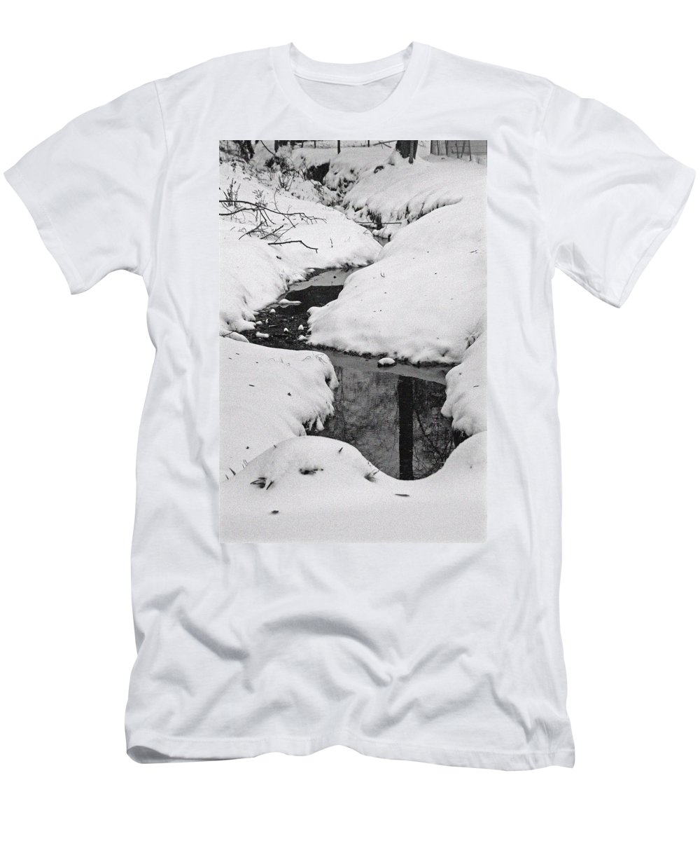 Winter Men's T-Shirt (Athletic Fit) featuring the photograph Snow Stream 2 by David Campbell