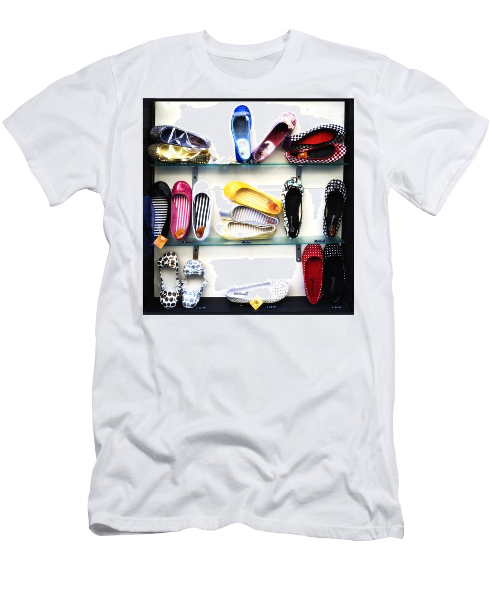 Shoes Men's T-Shirt (Athletic Fit) featuring the photograph So Many Shoes... by Marilyn Hunt