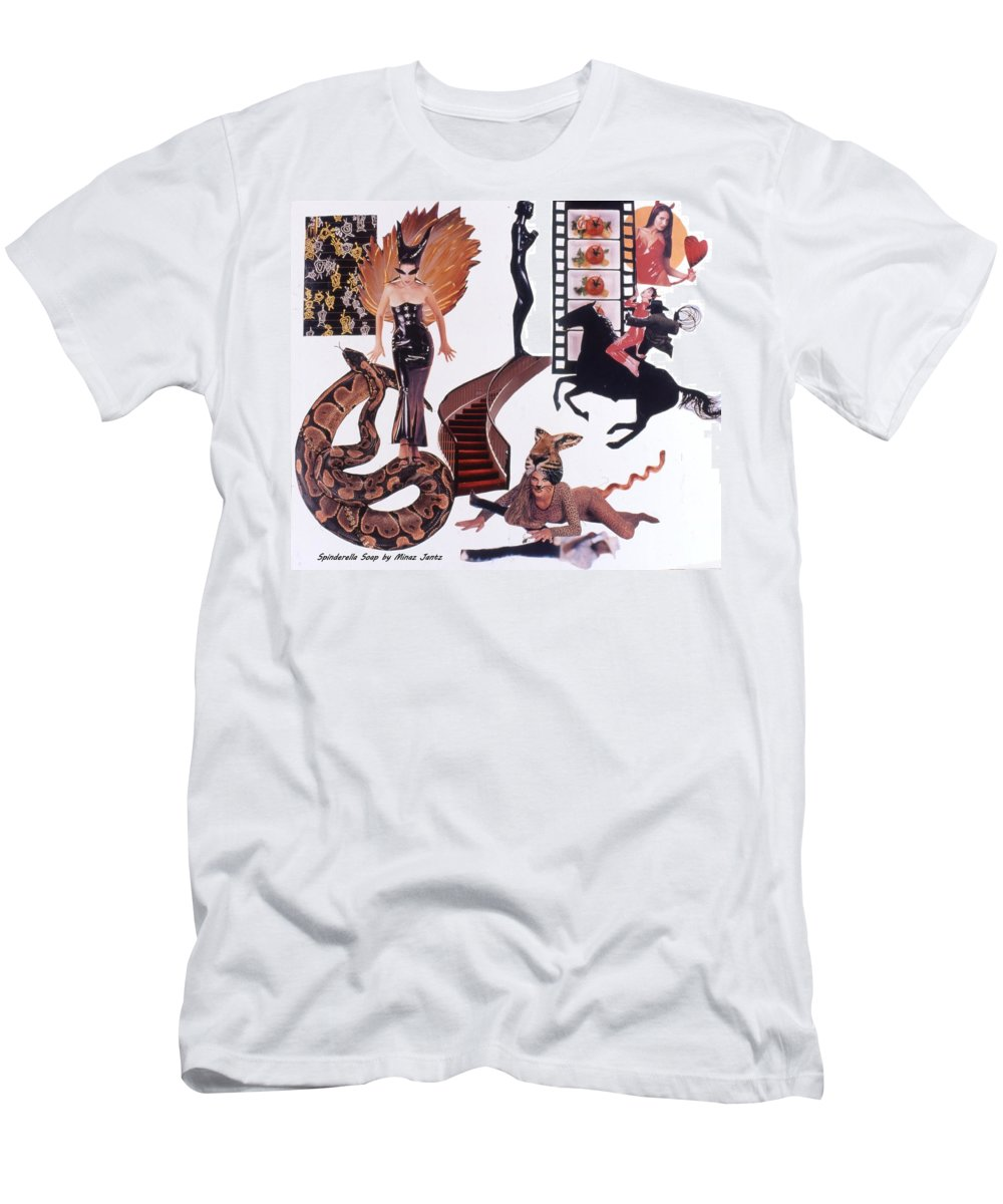 Boa Men's T-Shirt (Athletic Fit) featuring the drawing Soap Scene #22 Lust In The Wind by Minaz Jantz