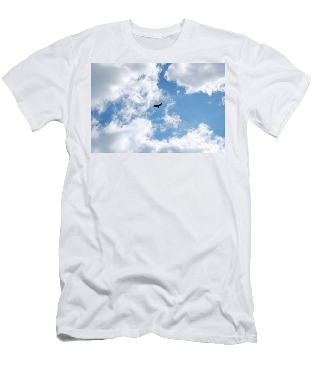 Bird Men's T-Shirt (Athletic Fit) featuring the photograph Soaring by Lori Tambakis
