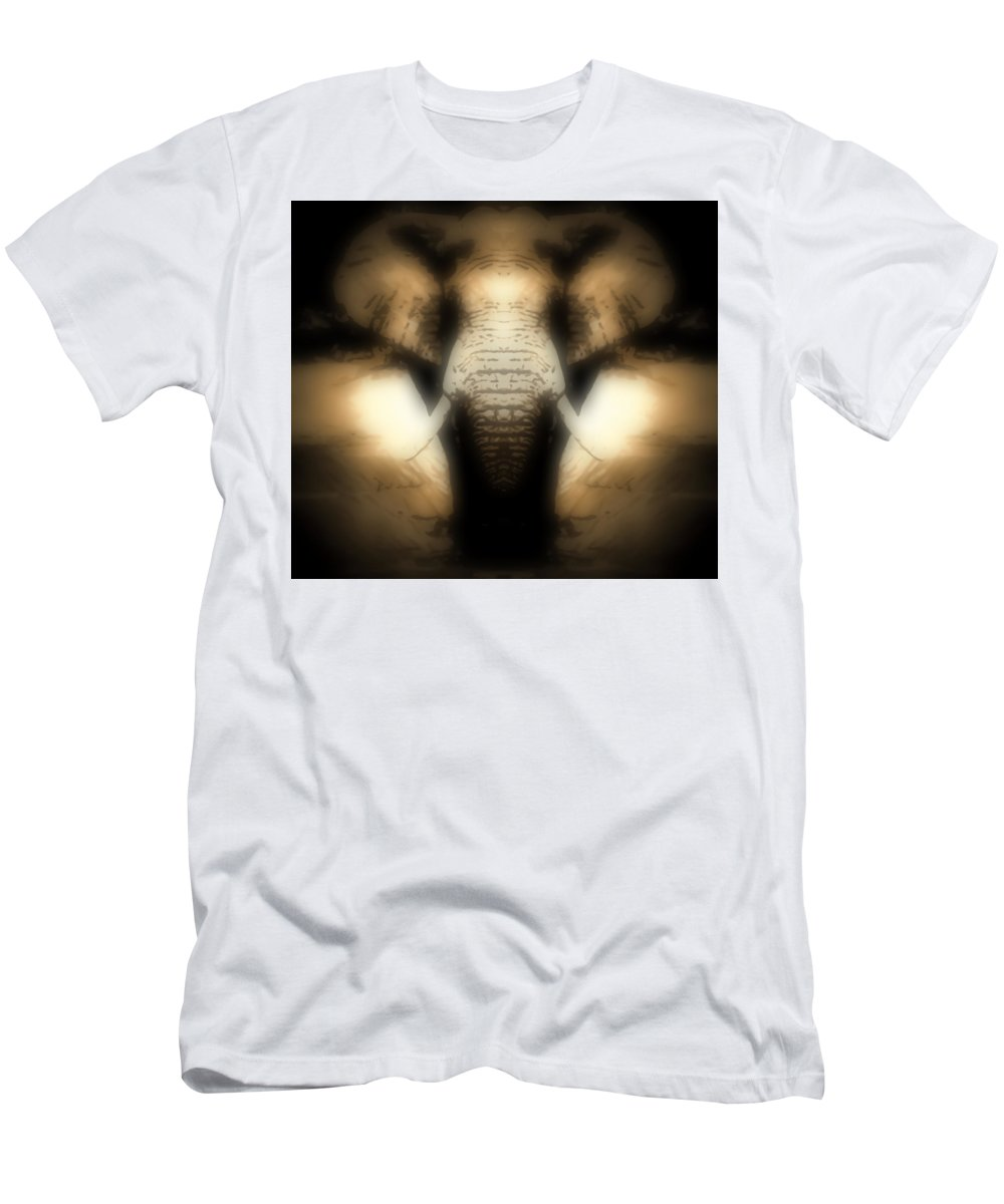 Soft Men's T-Shirt (Athletic Fit) featuring the photograph Soft Brown Elephant by Heather Joyce Morrill