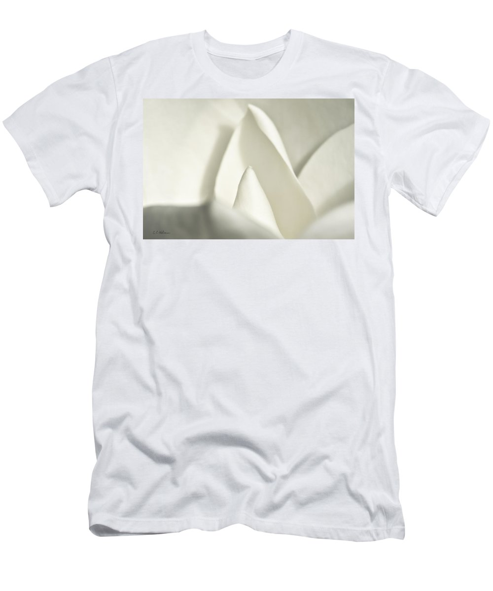Magnolia Men's T-Shirt (Athletic Fit) featuring the photograph Soft Magnolia by Christopher Holmes
