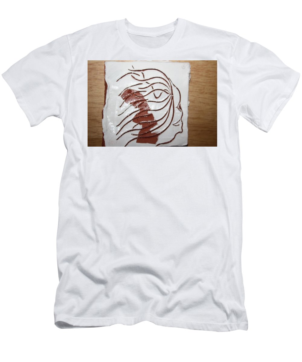 Jesus Men's T-Shirt (Athletic Fit) featuring the ceramic art Sorrow - Tile by Gloria Ssali