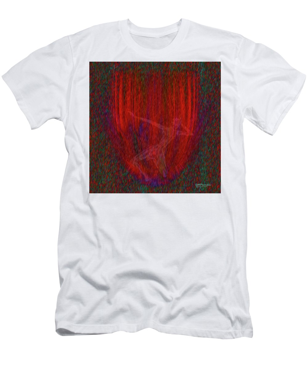 Soul Men's T-Shirt (Athletic Fit) featuring the digital art Soul Flames by Diane Parnell