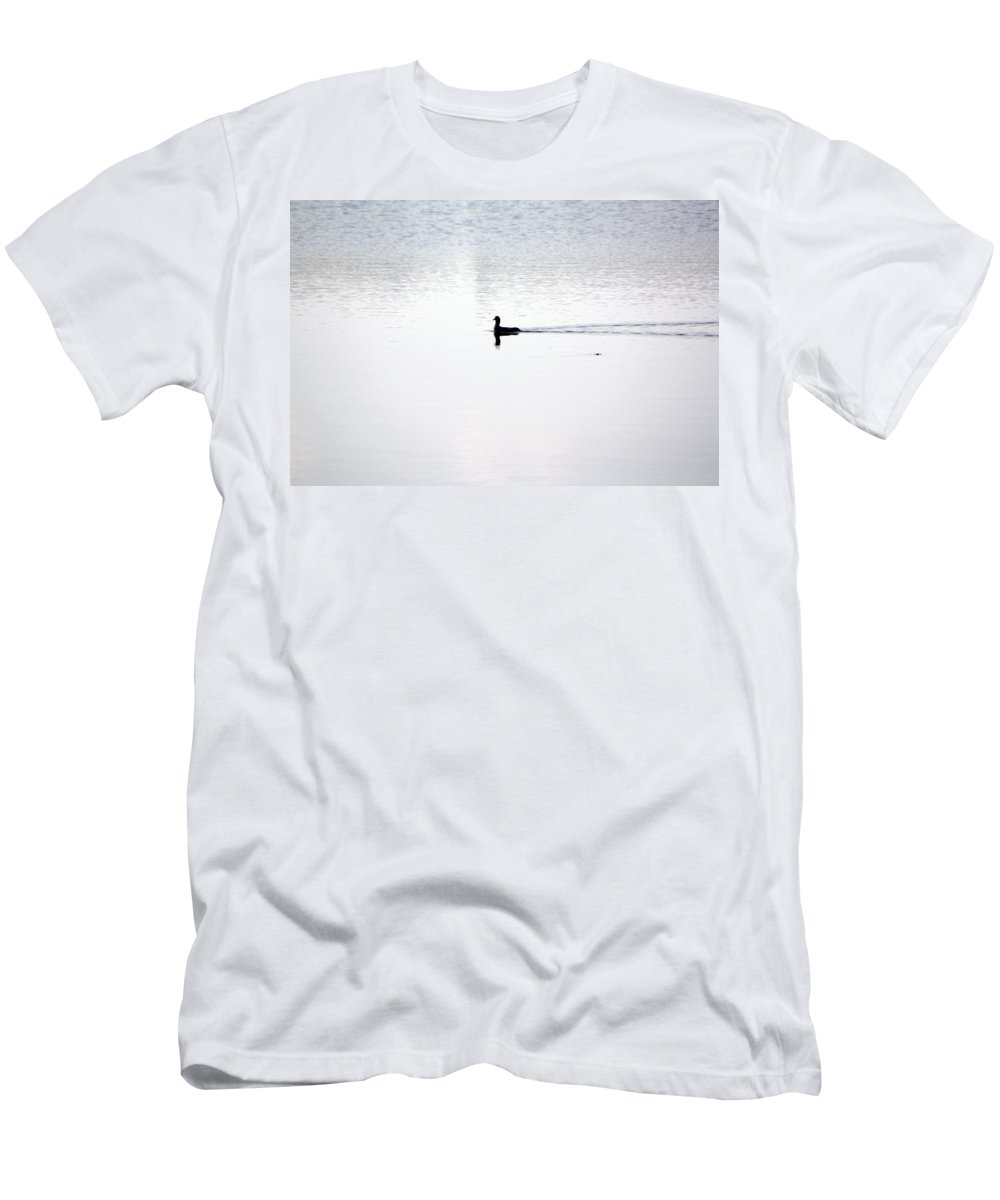 Duck Men's T-Shirt (Athletic Fit) featuring the photograph Soul Searching by Tamivision