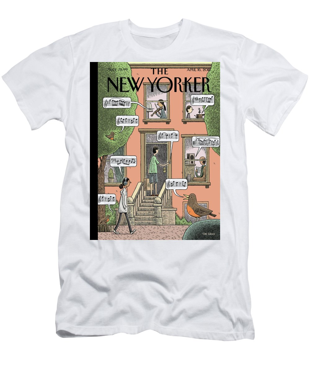 Soundtrack To Spring T-Shirt featuring the drawing Soundtrack To Spring by Tom Gauld