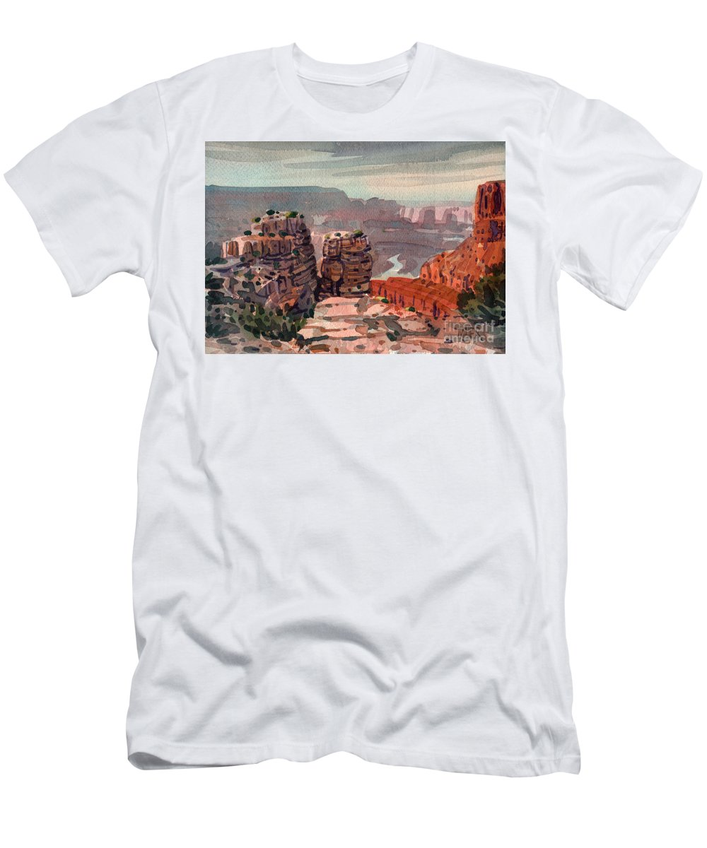 South Rim Men's T-Shirt (Athletic Fit) featuring the painting South Rim by Donald Maier