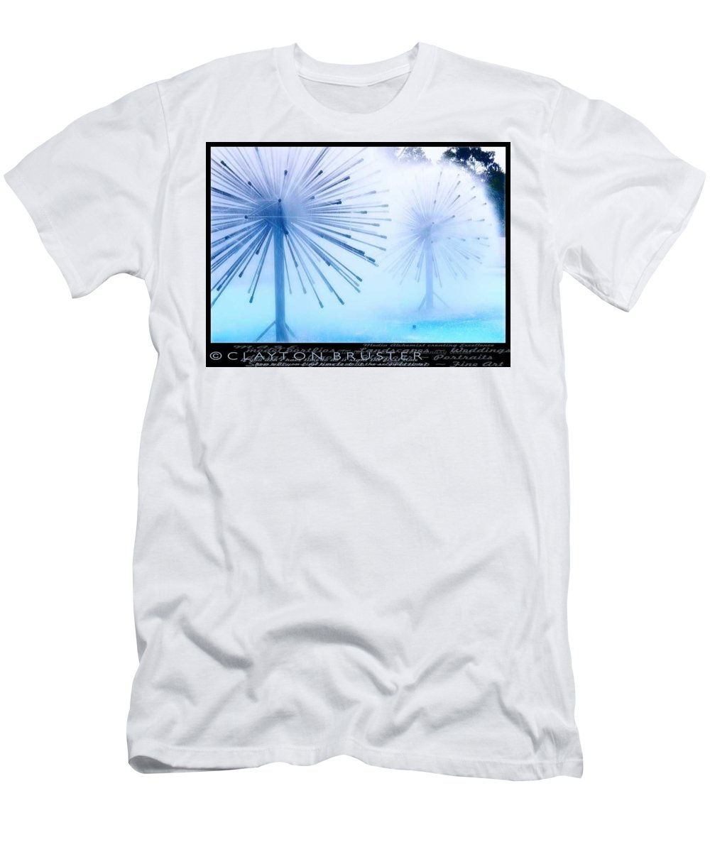 Clay Men's T-Shirt (Athletic Fit) featuring the photograph Southern California Fountains by Clayton Bruster