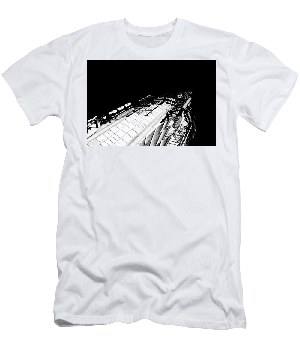 Art Men's T-Shirt (Athletic Fit) featuring the photograph Space Needle by Andre Beriault