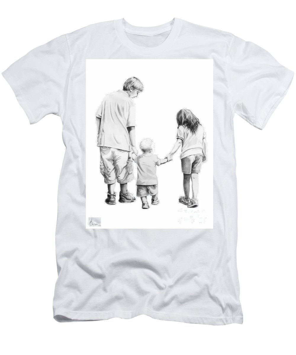 Figures Men's T-Shirt (Athletic Fit) featuring the drawing Special Children by Murphy Elliott