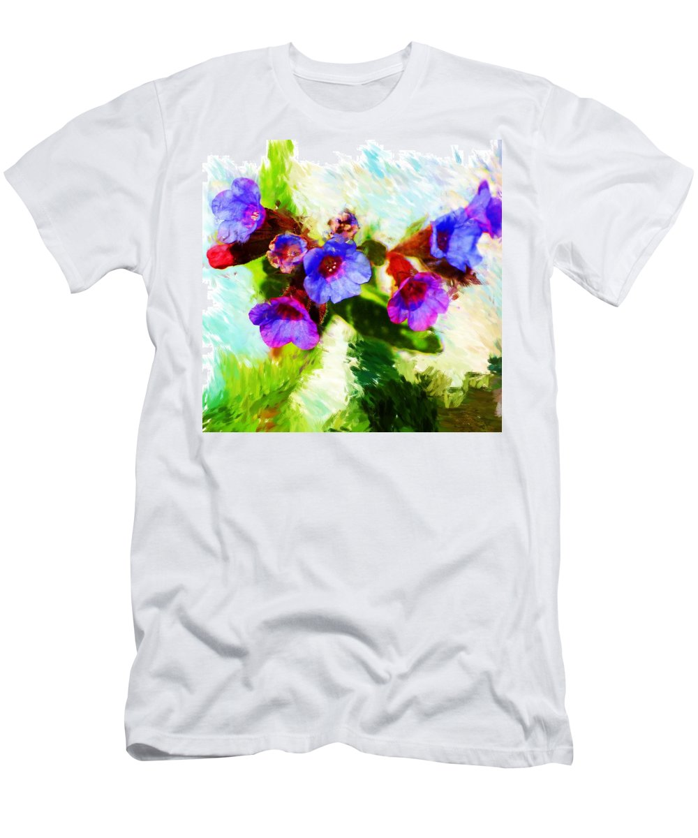 Abstract Men's T-Shirt (Athletic Fit) featuring the photograph Speckled Trout The Flower by David Lane