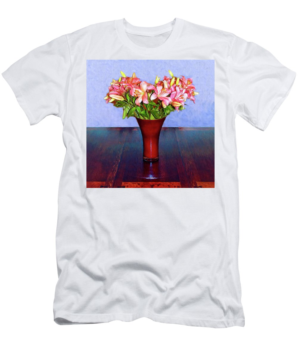 Flowers Men's T-Shirt (Athletic Fit) featuring the mixed media Spring Bouquet by Dominic Piperata