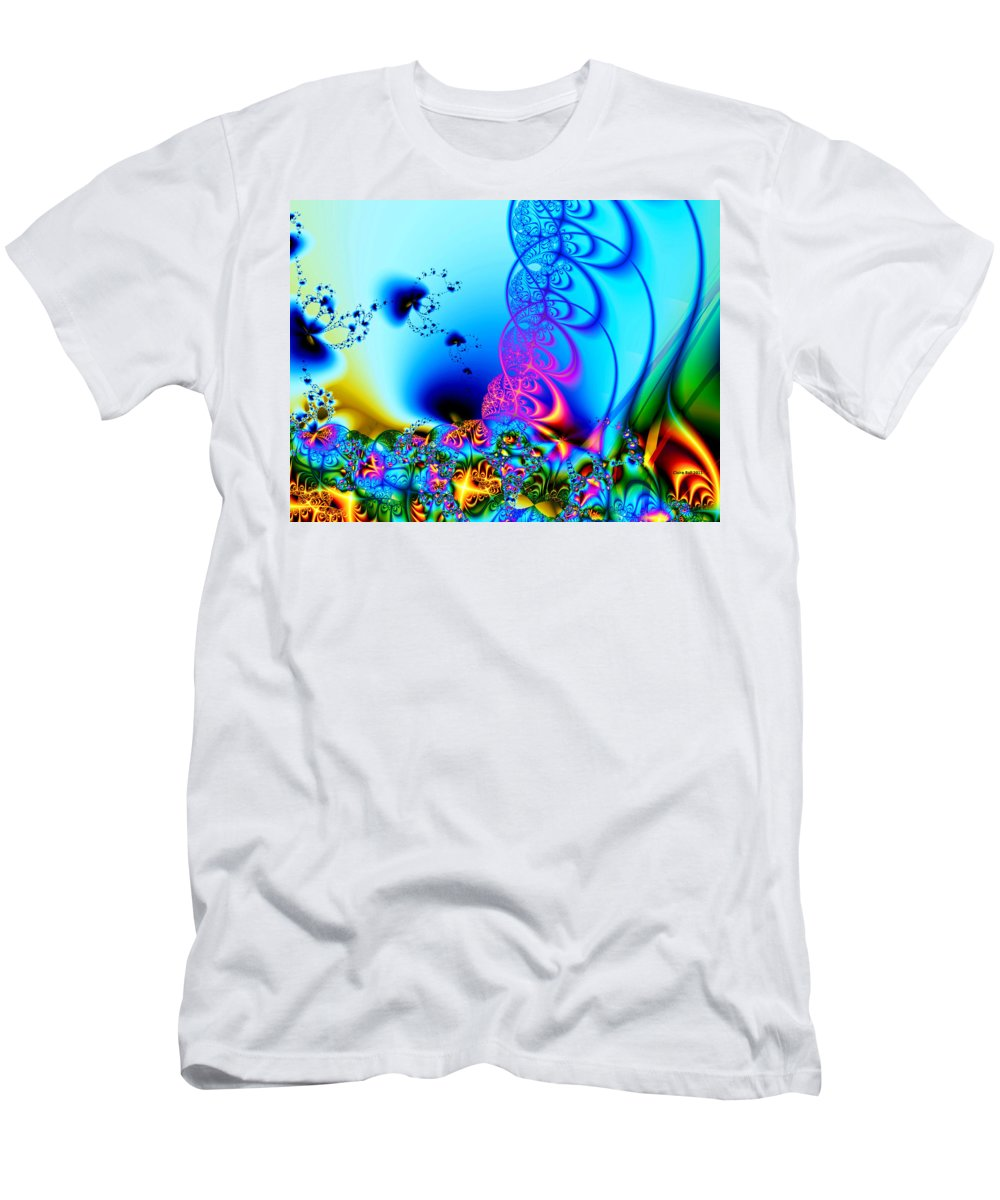 Fractal Men's T-Shirt (Athletic Fit) featuring the digital art Spring Breezes by Claire Bull