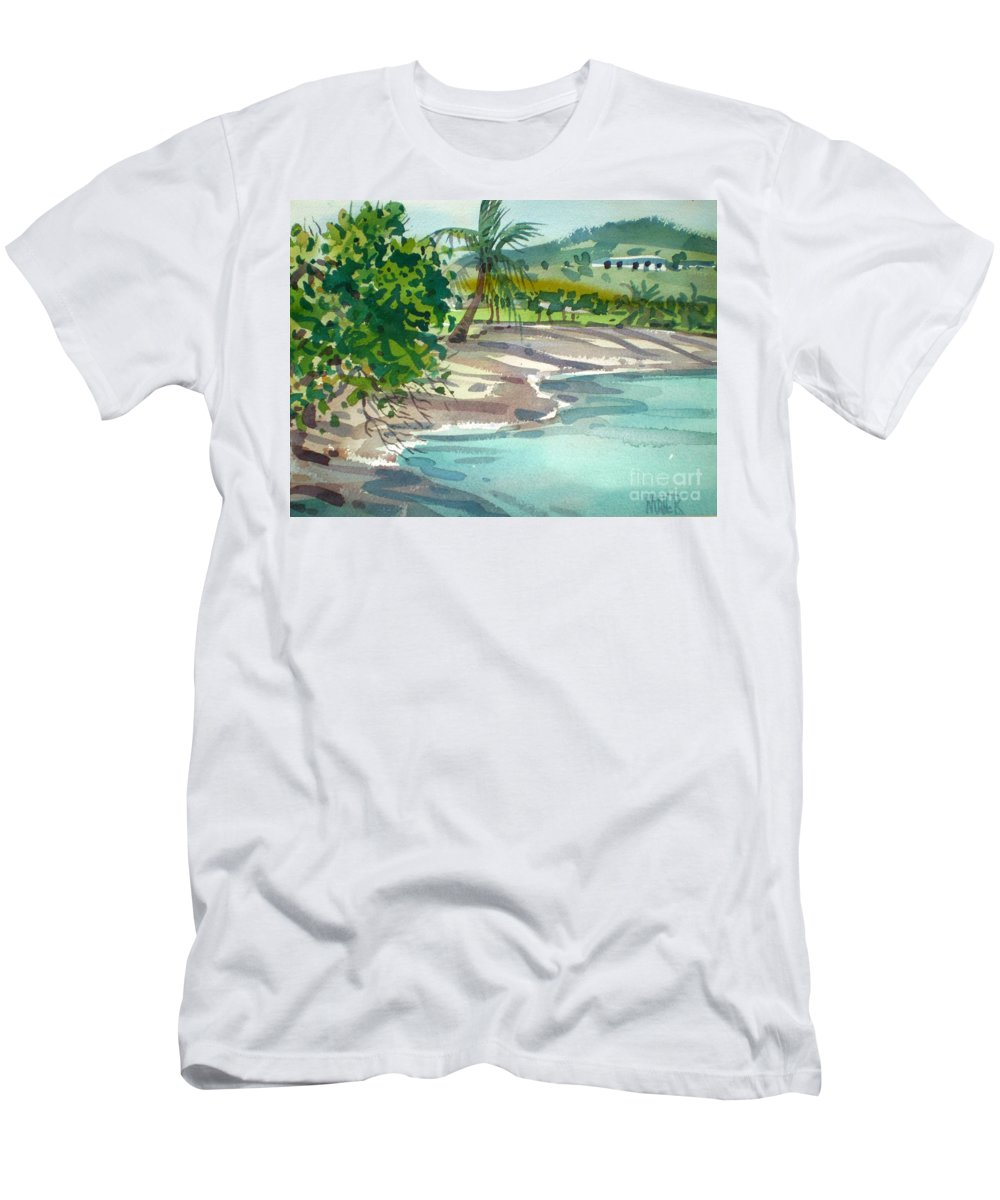 St. Croix Men's T-Shirt (Athletic Fit) featuring the painting St. Croix Beach by Donald Maier