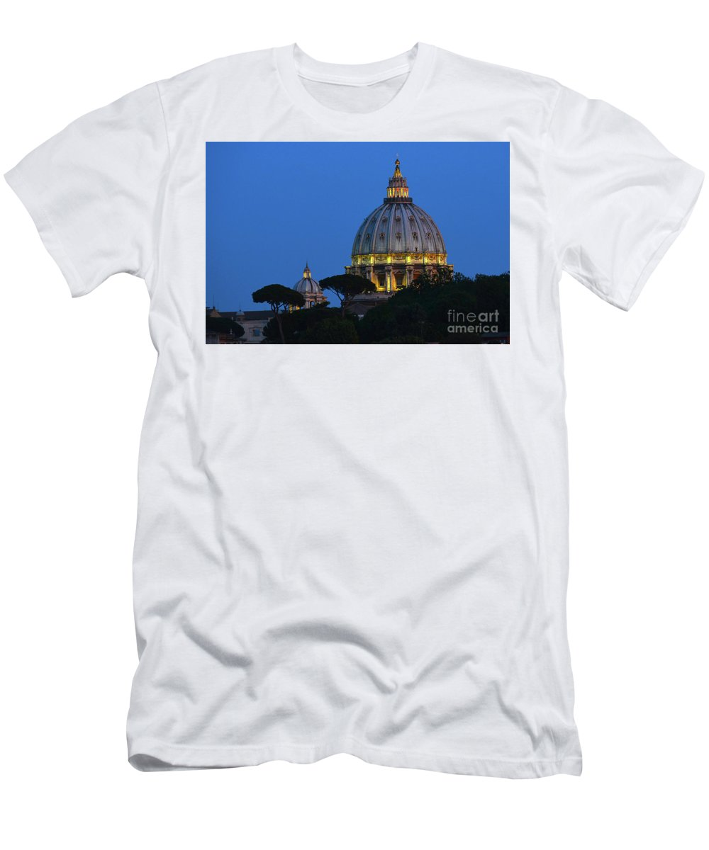 St. Peter's Basilica Men's T-Shirt (Athletic Fit) featuring the photograph St. Peter's Basilica by Rolando Otero