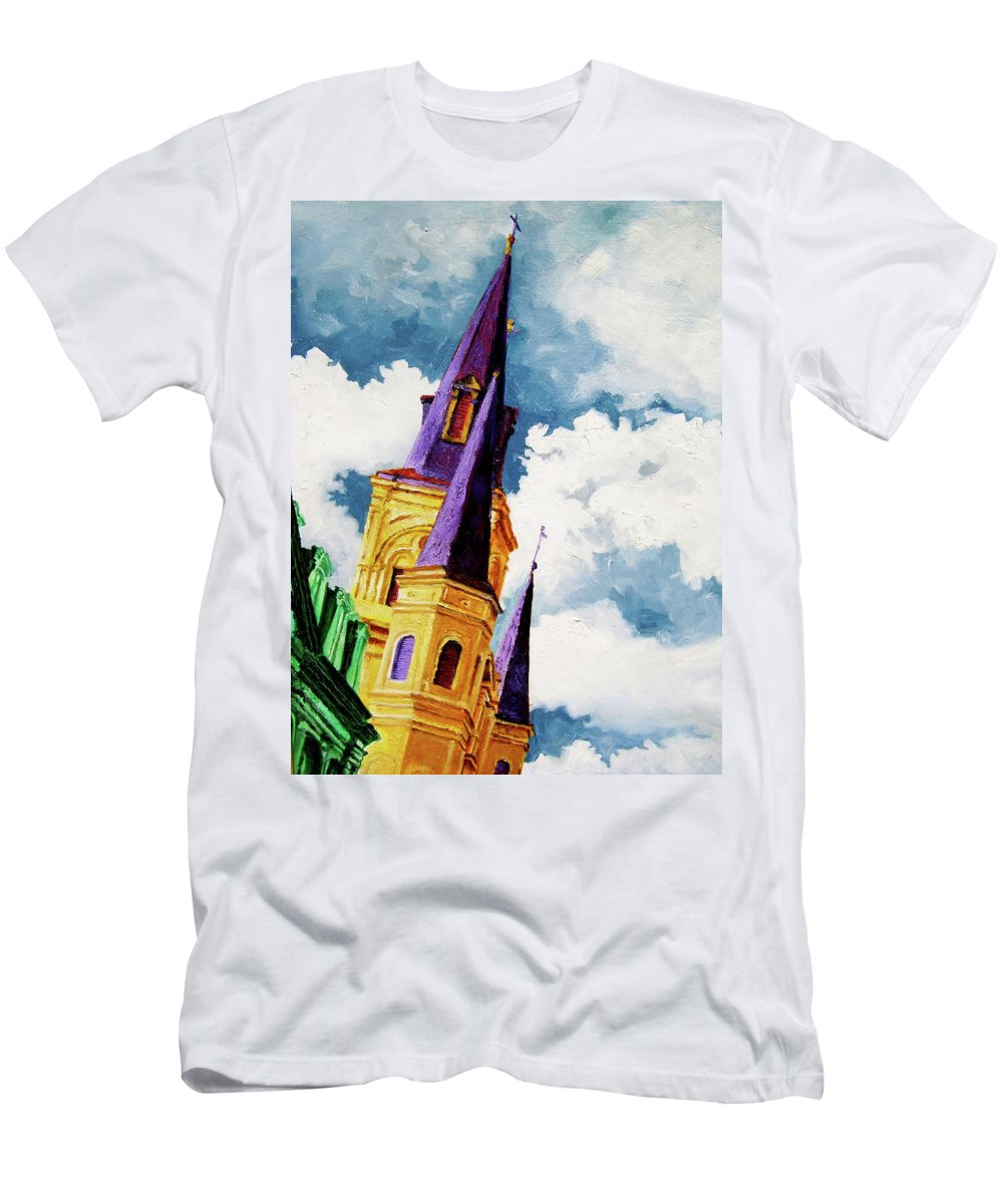 Church Men's T-Shirt (Athletic Fit) featuring the painting St. Peter's by Laura Pierre-Louis
