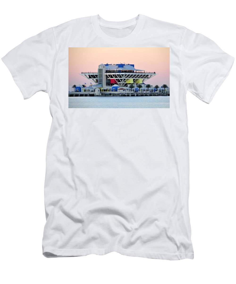Pier Men's T-Shirt (Athletic Fit) featuring the photograph St. Petersburg Pier by David Lee Thompson