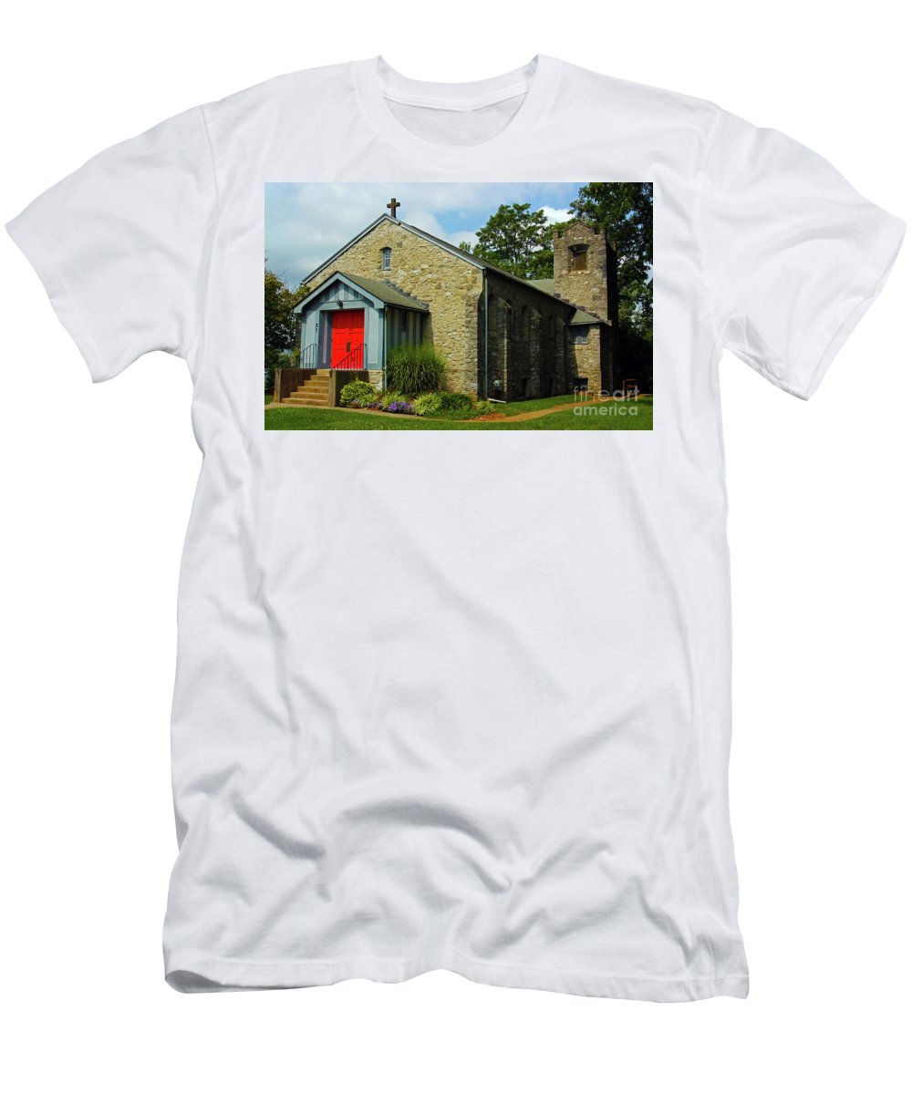 St. Timothy's Episcopal Church Men's T-Shirt (Athletic Fit) featuring the photograph St. Timothy's Episcopal Church by Patti Whitten