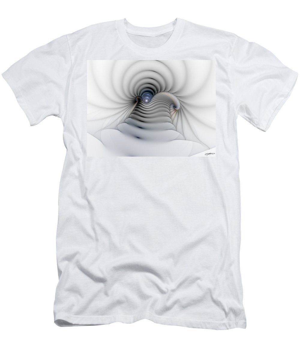 Abstract Men's T-Shirt (Athletic Fit) featuring the digital art Stairway To Heaven by Casey Kotas