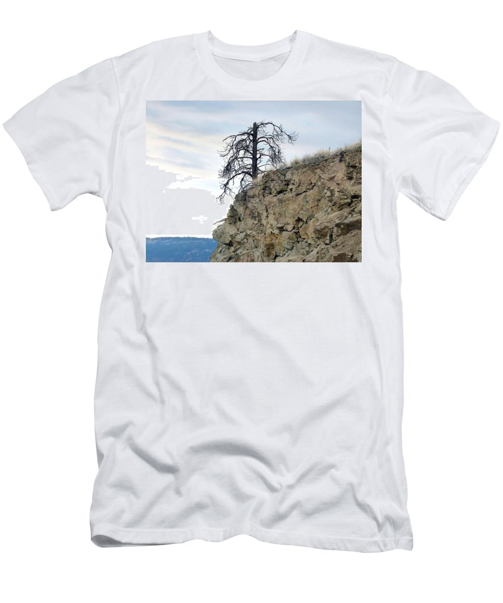 Pine Tree Men's T-Shirt (Athletic Fit) featuring the photograph Stalwart Pine Tree by Will Borden