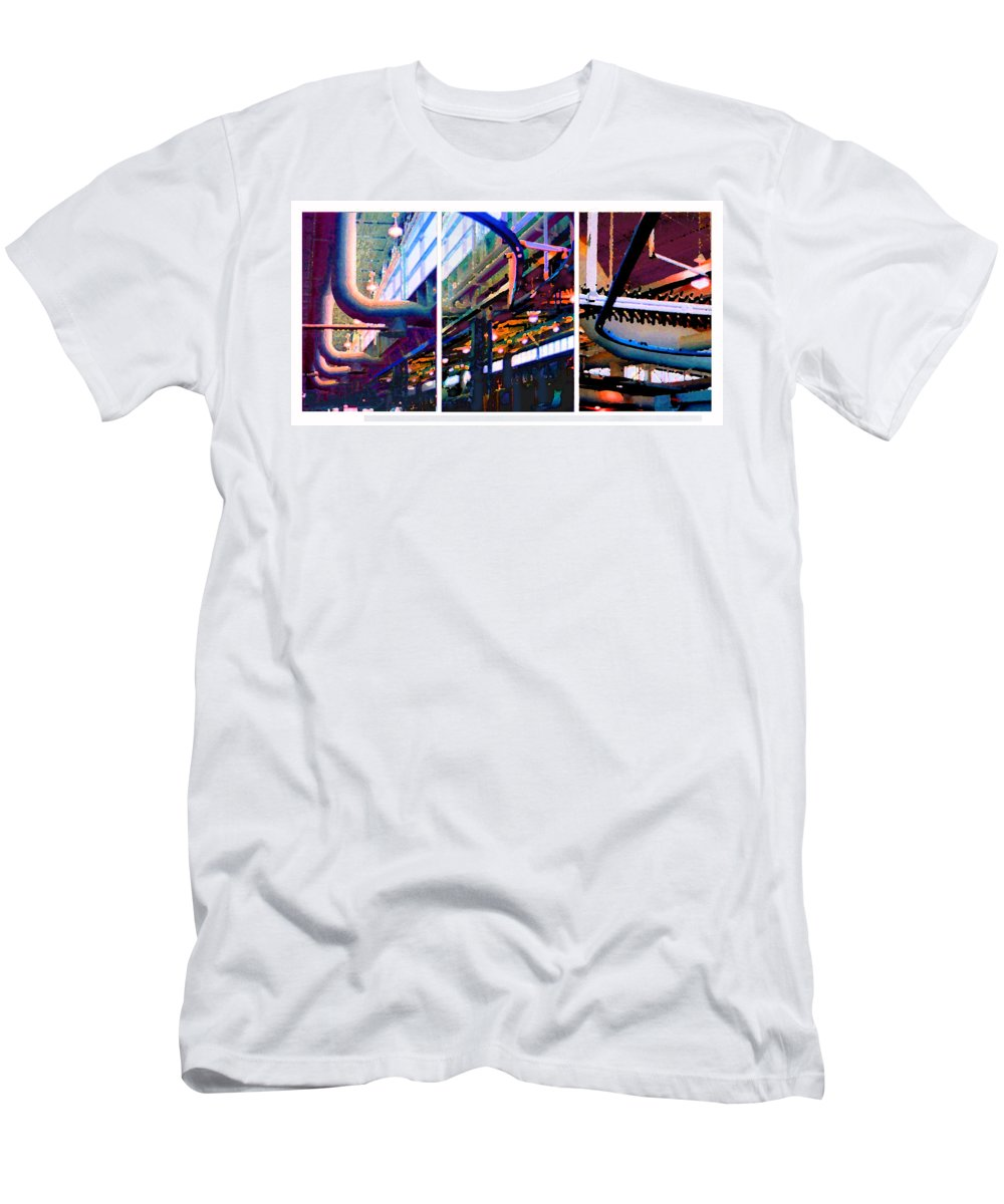 Abstract Men's T-Shirt (Athletic Fit) featuring the photograph Star Factory by Steve Karol