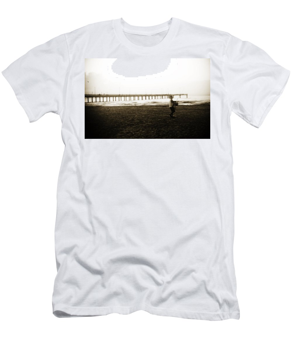 Fish Men's T-Shirt (Athletic Fit) featuring the photograph Starting Early by Marilyn Hunt