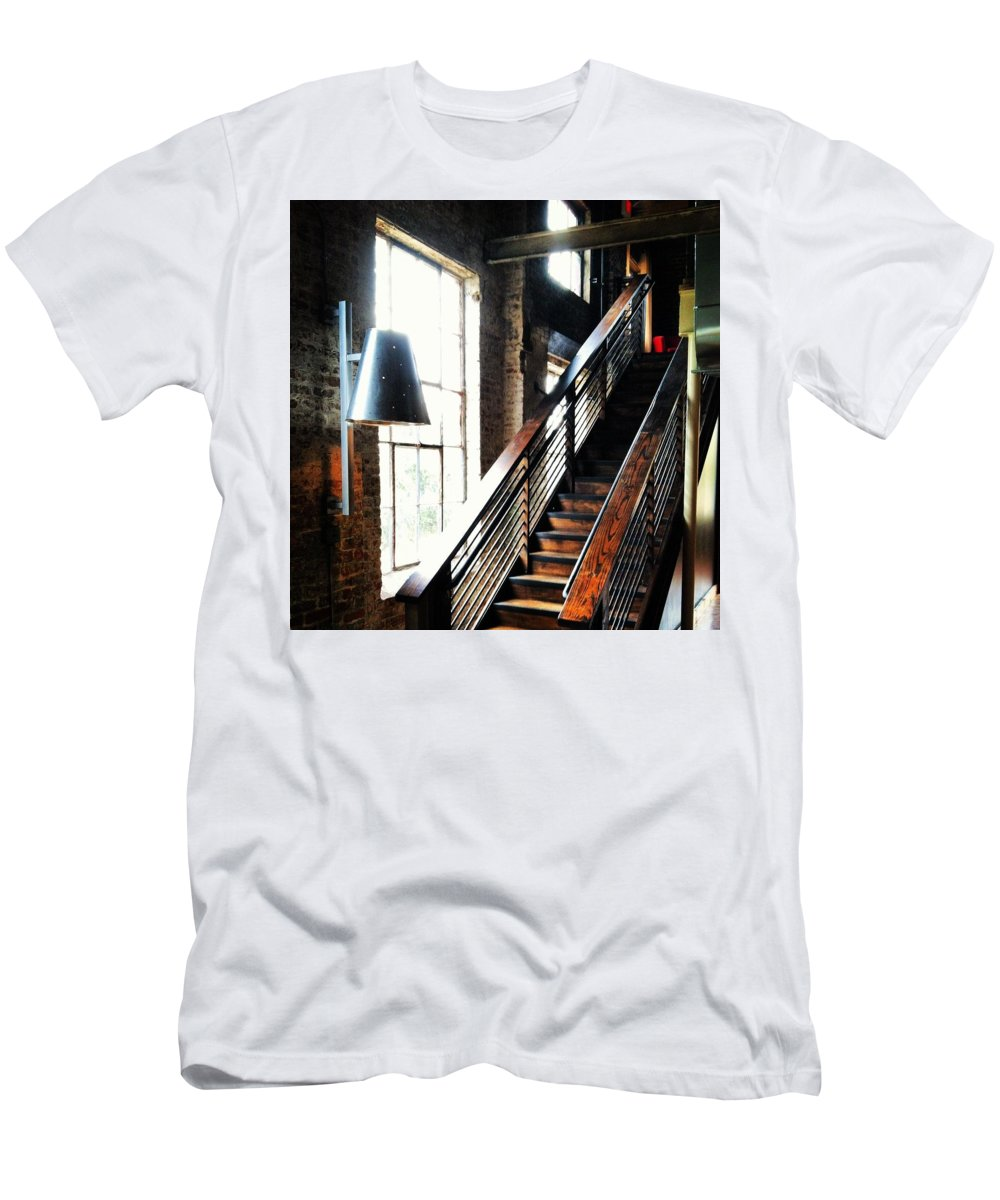 Warehouse Men's T-Shirt (Athletic Fit) featuring the photograph Steps by Artie Rawls
