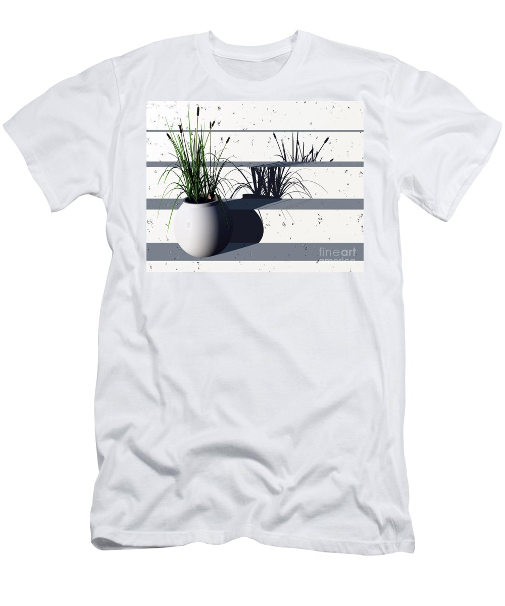 Steps Men's T-Shirt (Athletic Fit) featuring the digital art Steps by Richard Rizzo
