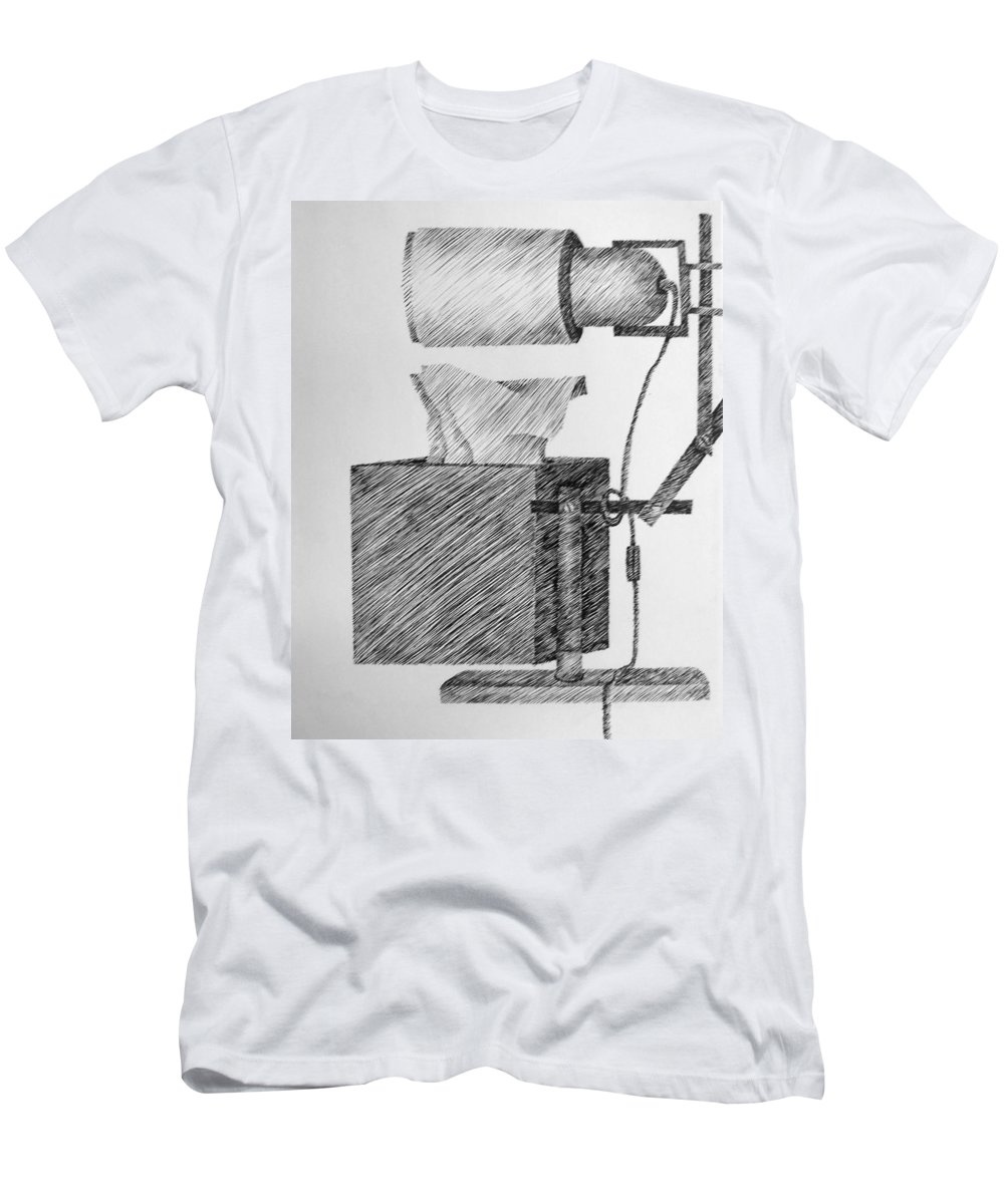 Still Life Men's T-Shirt (Athletic Fit) featuring the drawing Still Life With Lamp And Tissues by Michelle Calkins